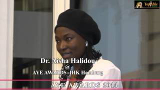 Dr Aisha Halidou at AYE AWARDS -IHK Hamburg