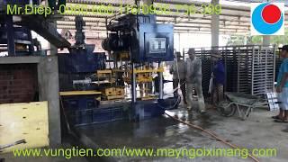 Máy sản xuất ngói xi măng màu không nung