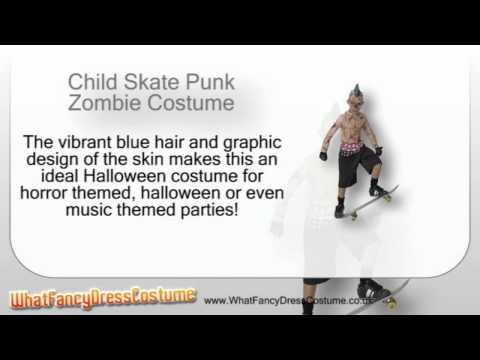 Child Skate Punk Zombie Costume