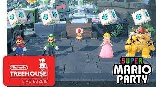 Super Mario Party Gameplay Pt. 1 - Nintendo Treehouse: Live   E3 2018