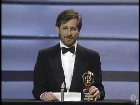 Steven Spielberg receiving the Irving G. Thalberg Memorial Award