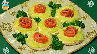 Закуска - Бутерброды из Красной рыбы!