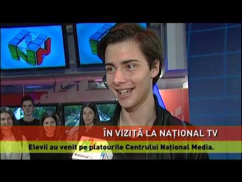 Elevi în vizită la Naţional TV