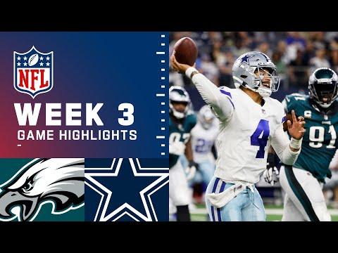 Eagles vs. Cowboys Week 3 Highlights | NFL 2021