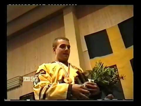 1998 Johan Tornberg kommer till Pajala efter VM guldet