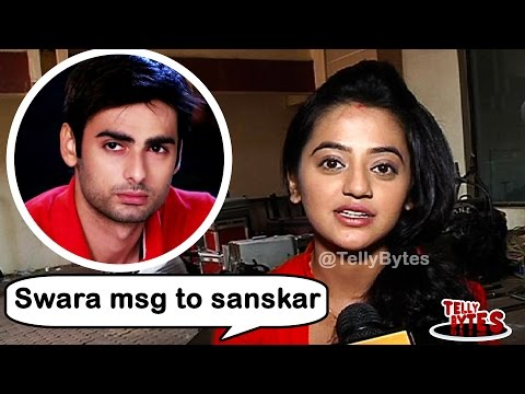 Swara's message for Sanskar on the last day of Swa
