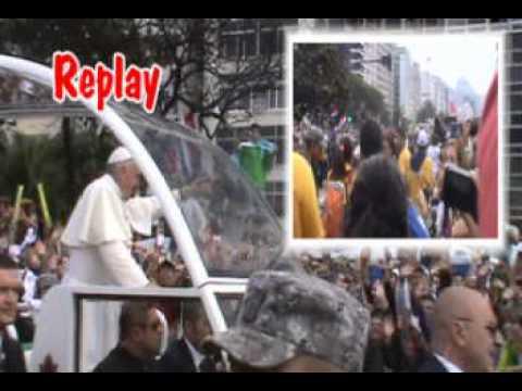 Juventude de Ipupiara e a passagem do Papa em Copacabana