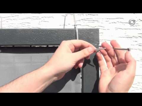 Montage Balkonbespannung - Balkon Sichtschutz montieren