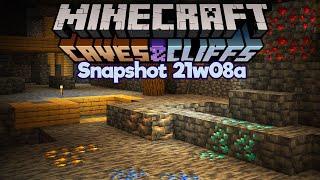 No More Easy Diamonds? • Minecraft 1.17 Snapshot 21w08a • Caves & Cliffs Update