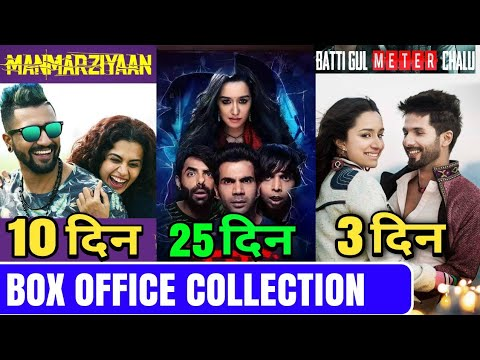 Box Office Collection Of Batti Gul Meter Chalu Day 3, Stree  Collection, Manmarziyaan Collection
