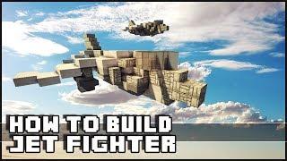 Minecraft Vehicle Tutorial - How to Build : Harrier Jet Fighter