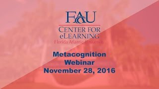 November 28, 2016 Professional Development: Metacognition