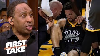 Klay, KD's injuries overshadow Kawhi bringing a title to the Raptors – Stephen A. | First Take
