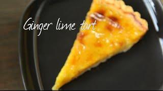 Ginger lime tart