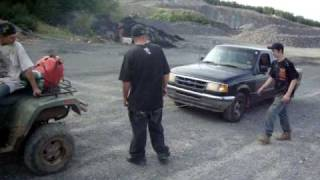 10. 700 Arctic Cat Towing Ford Ranger Up Hill