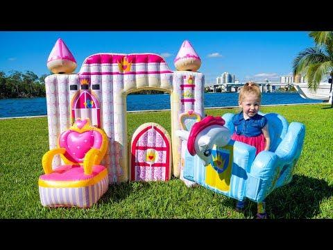 Детский влог - Рум Тур Распаковка Игрушки Замок Принцессы - DomaVideo.Ru