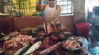 This fish monger guy has more than 25 years fish chopping experience and he is the most expensive and most fastest fish cutting guy in BD fish market. He charge 5-10 KG fish 200-300 BDT( About 2.50-4.0 USD) And for 20 KG big fish he charge 500-700 BDT ( About 7-10 USD). He earn per day average 4,000-5,000 BDT ( About 55-65 USD) . Thanks for watching. Please subscribe.