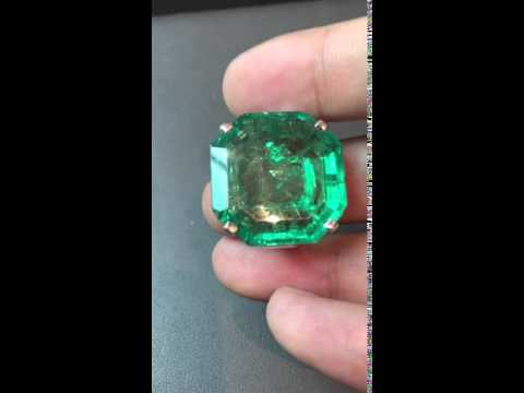 Emerald Ring: Just under 30ct Colombian Emerald Ring