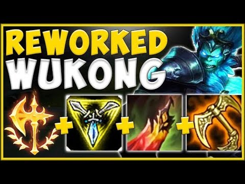 WTF RIOT? NEW REWORKED WUKONG 100% NEEDS TO BE MEGA NERFED! WUKONG TOP GAMEPLAY! - League of Legends