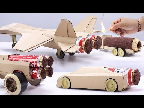 4 Best Match Stick Powered Cardboard Jet Experiment
