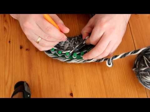 Mütze mit Strickrahmen stricken Teil 02/06: Umschlag / Krempe erstellen