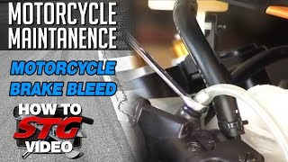 9. How to Bleed Motorcycle Brakes from SportbikeTrackGear.com