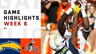 Chargers vs. Browns Week 6 Highlights   NFL 2018