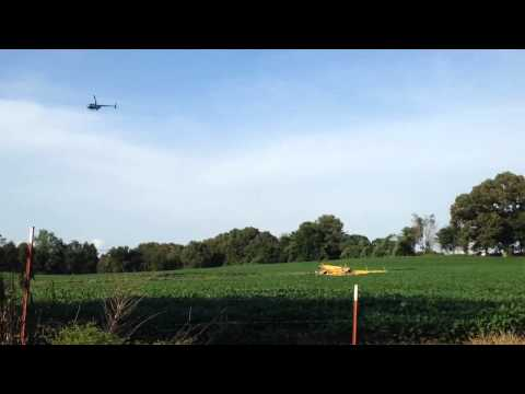 Video: Scene where cropduster plane crashed in Decatur County