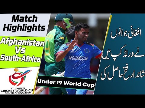 Afghanistan U19 vs South Africa U19 Highlights | ICC Under 19 Cricket World Cup 2020