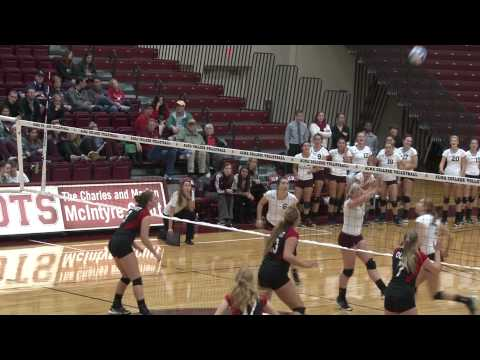 Alma College Volleyball - October 6, 2012