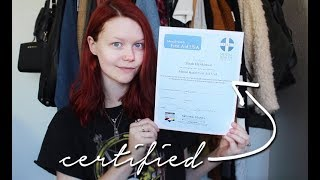 I'M MENTAL HEALTH FIRST AID CERTIFIED