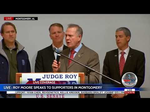 Roy Moore Speaks to Supporters; Refuses to Concede in Alabama Senate Race 12/12/17