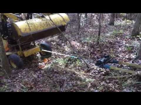 Harbor Freight 1500 pound 120 VAC Winch pulling 4000 lbs up an incline!!!!