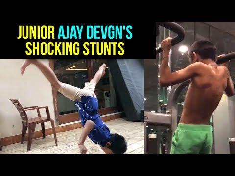 Ajay Devgn's Son Yug Takes Shocking FITNESS CHALLE