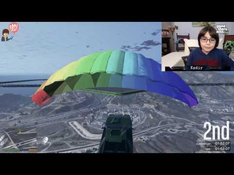 GTA 5 Online - PARAŞÜTLÜ ARABALARLA YARIŞIYORUZ Misafirimle - BKT