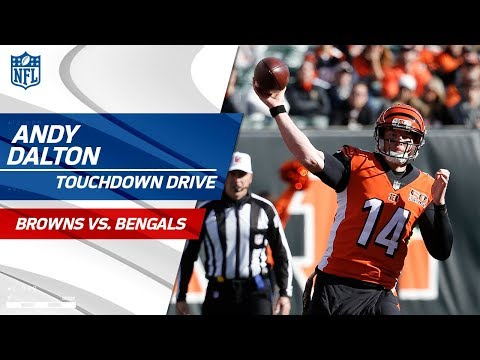 Video: Andy Dalton's Red Hot on TD Drive to Extend the Lead!   Browns vs. Bengals   NFL Wk 12 Highlights
