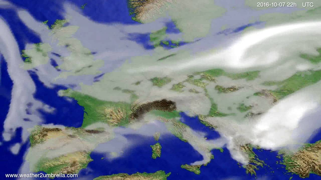 Cloud forecast Europe 2016-10-05