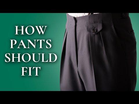 How Pants Should Fit - Ultimate Guide To Mens Dress & Suit Trousers - Gentleman's Gazette