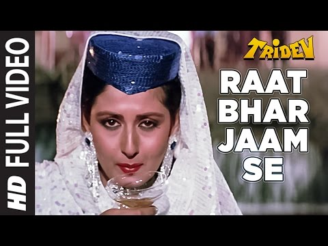 Raat Bhar Jaam Se Full HD Video Song | Tridev | Sunny Deol, Sonam