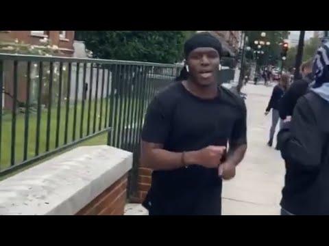 KSI caught running