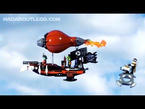 Vidéo LEGO Ninjago 70603 : L'attaque du Zeppelin des Pirates
