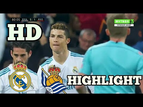 Real Madrid vs Real Sociedad 5-2 - All Goals & Extended Highlights - La Liga 10/02/2018 HD
