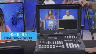 First Look: Datavideo HS-1500T - HDBaseT Mobile Video SwitcherMixer