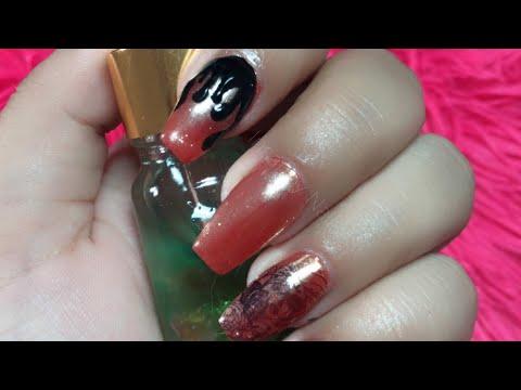 Uñas decoradas - Uñas acrílicas con stamping