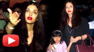 Aishwarya Rai Bachchan, Aaradhya and Abhishek Bachchan return from family holiday, but why Aaradhya is looking so upset ? Watch the visuals to know why is Aishwarya Rai is angry.Report By: Abhishek Halder.Edited By: Advait Pansare.Subscribe now and watch for more of Bollywood Entertainment Videos at http://www.youtube.com/subscription_center?add_user=bollywoodnowRegular Facebook Updates https://www.facebook.com/bollywoodnow.  Twitter Updates https://twitter.com/bollywoodnow  Follow us on Pinterest: https://pinterest.com/bollywoodnow  Follow us on Google+ : https://plus.google.com/+bollywoodnow