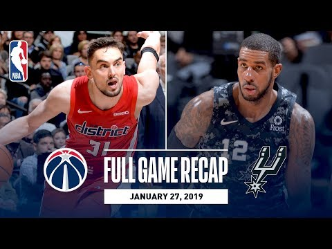 Video: Full Game Recap: Wizards vs Spurs | LaMarcus Aldridge Leads San Antonio