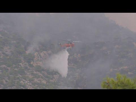 Πυρκαγιά στην περιοχή Λουτρακίου Περαχώρας – Εκκενώθηκαν μοναστήρι και γηροκομείο