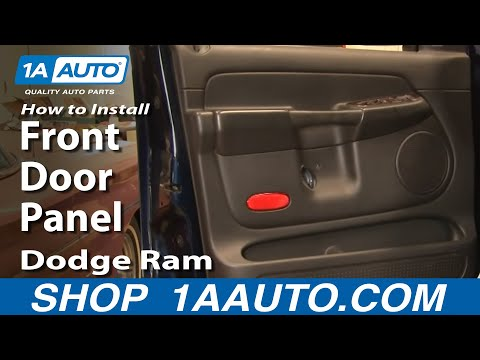 How To Install Replace Front Door Panel Dodge Ram 02-08 1AAuto.com