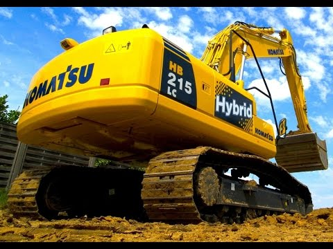 komatsu electric/diesel hybrid excavators جرافات هايبريد متطورة و اقتصادية