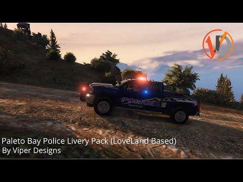 Paleto Bay Police Livery Pack (LoveLand Based) - Viper Designs